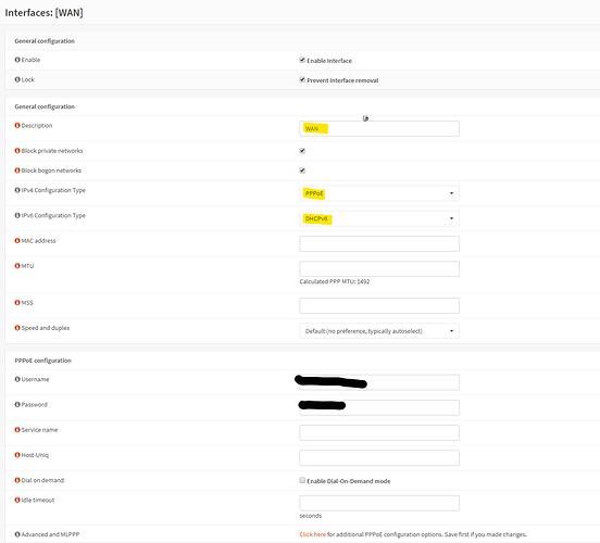 WAN IPv6 settings V1